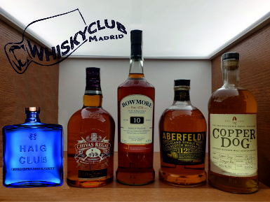 cinco tipos de whisky escocés